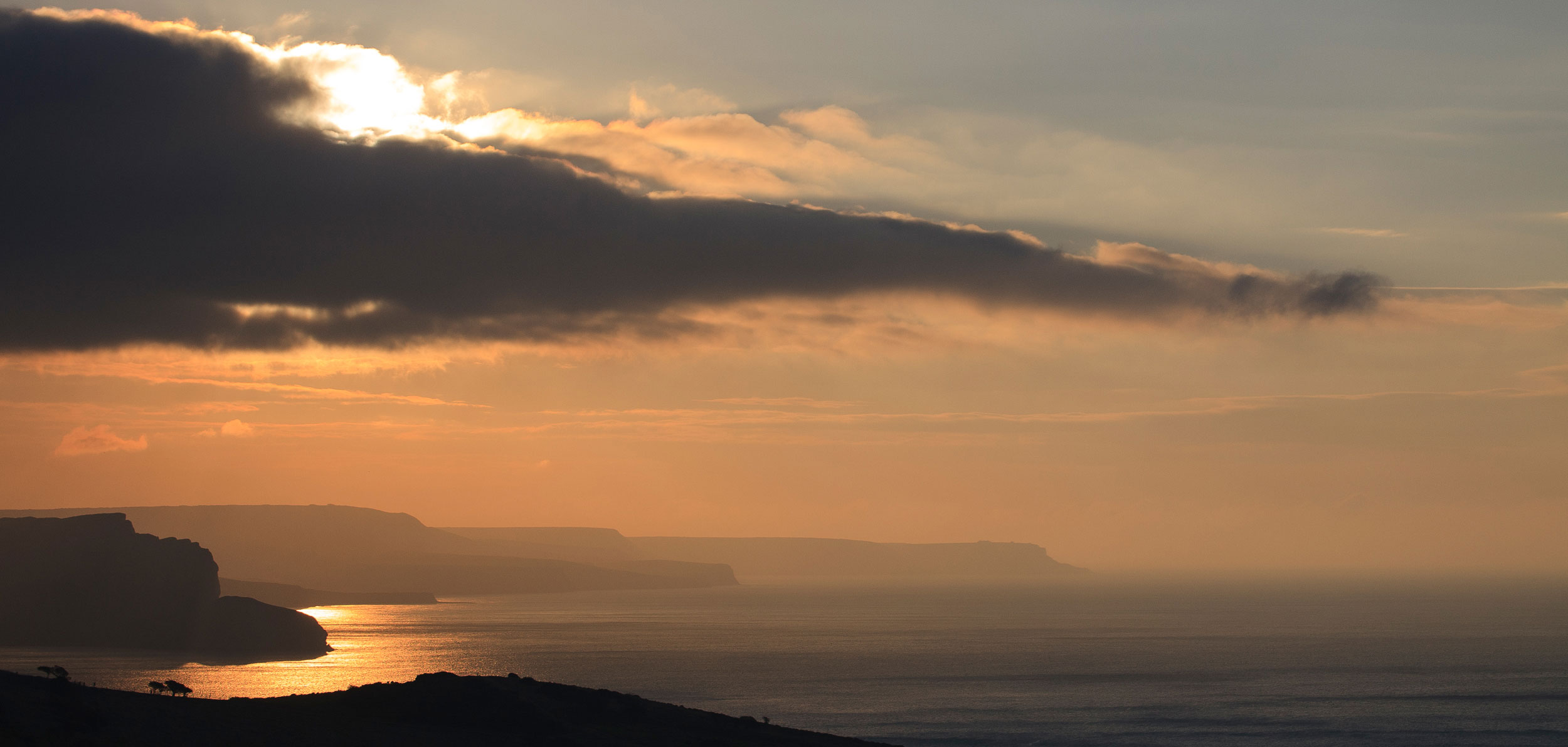 Sunrise over St Aldhelm's Head